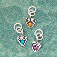 Heart Swirl Charm with Birthstone All Months by heartonyourwrist, $16.00