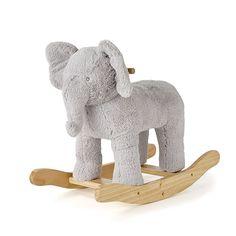 Snuggle Buddies Rocking Animal Grey Elephant