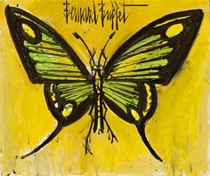 Bernard Buffet - Papillon Vert, 1996 Illustrator, Art Français, Paris, French Art, Cool Art, Fun Art, Abstract Art, Illustration Art, Doodles