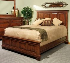 Northbrook King Panel Bed  by Canal Dover Furniture. Available at www.muellerfurniture.com or in store at Mueller Furniture and Mattress Store, St. Louis.