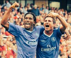 Those were the days. Chelsea FC - Lampard and Drogba Chelsea Football Team, Football Wall, Athletic Supporter, Fc Chelsea, English Premier League, West London, Eminem, Cool Photos, Interesting Photos
