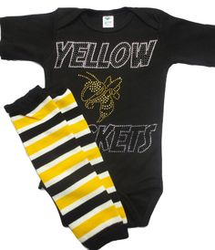 This is for Infant / Toddler Baby girls Georgia Tech Crystal Onesie with Leg Warmers    Crystal Georgia Tech Yellow Jacket    Other teams