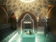 Bathroom designs that you will feel that you are at a spa. Spa Luxe, Luxury Spa, Moroccan Bathroom, Bathroom Spa, Spa Day At Home, Home Spa, Turkish Decor, Riad, Spa Rooms