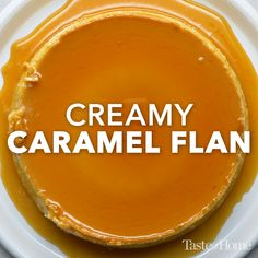 Creamy Caramel Flan <br> A small slice of this impressively rich, creamy flan dessert goes a long way. What a delightful finish for a special meal or holiday celebration. Easy Desserts, Delicious Desserts, Yummy Food, Sweet Recipes, Cake Recipes, Quiche Recipes, Top Recipes, Healthy Recipes, Flan Dessert