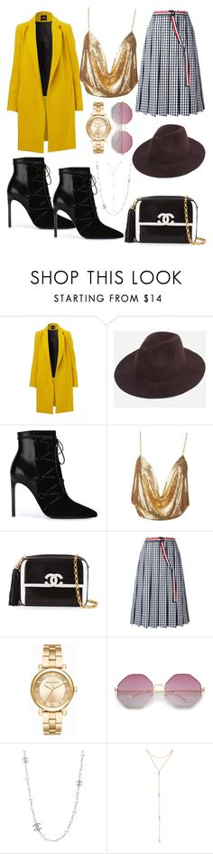 """Untitled #1592"" by filipaloves ❤ liked on Polyvore featuring Yves Saint Laurent, Chanel, Thom Browne, Michael Kors and Fragments"
