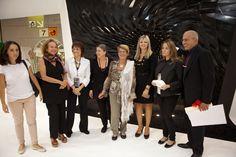 Premio Donna del Marmo 2012  all'archistar Zaha Hadid. Premiazione presso lo stand Citco durante Marmomacc.