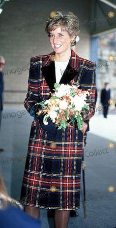 Princess Diana Seen During a Recent Visit to Cornwall 1-29-1991 #upi1705/a Photo by Uppa-ipol-Globe Photos, Inc.