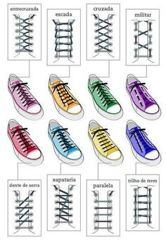 How to lace sneakers.