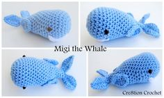 Migi the Whale FREE amigurumi pattern by Cre8tion Crochet