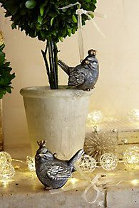 Bird with Crown Ornament Set