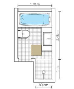 Banheiro com banheira é uma delícia! Family Bathroom, Modern Bathroom, Small Bathroom, Master Bathroom, Bathroom Plans, Bathroom Layout, Ideas Baños, Mini Bad, Bathroom Dimensions
