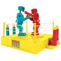 """Popular Toys from the 1960s -Originally manufactured by the Marx Toy Company in 1964, Rock 'Em Sock 'Em Robots pits two mechanically controlled robot in a fight to see who can knock the other's head off. Sold in the UK as """"Raving Bonkers"""" the robots dominated every young boys wish list for much of the 60's and 70's."""