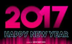 Pink 2017 Signo de año nuevo