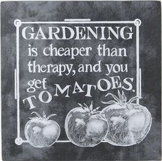 Therapy & Tomatoes Sign
