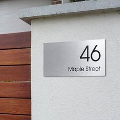 CUSTOM 300 x 150 Street Name HOUSE SIGN PERSONALISED Address PLAQUE House NUMBER in Home & Garden, Home Décor, Plaques & Signs | eBay!