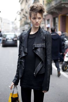 Freja throwing a truck load of cool on the situation #offduty in Paris. #FrejaBehaErichsen