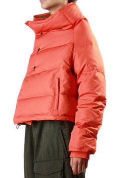 orange cropped down jacket - Y'S Yohji Yamamoto