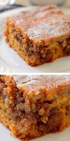 Fall Desserts, Just Desserts, Delicious Desserts, Yummy Food, Fall Dessert Recipes, Recipes Dinner, Honey Bun Cake, Honey Buns, Food Cakes