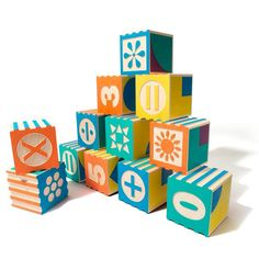 Uncle Goose Groovie Math & Patterning Block Set                         – Tiny Crane