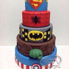 Super Heroes Cake!