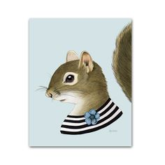 Squirrel Lady art print 5x7
