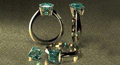 Projektowanie biżuterii pierścionek jewelry