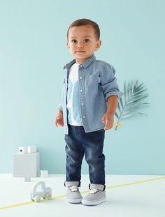 Chemise en jean bébé Stone - vertbaudet enfant
