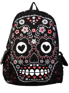 Banned Candy Skull Rucksack | Gothic Clothing | Emo clothing | Alternative clothing | Punk clothing - Chaotic Clothing