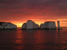 Sunset at Old Harry Rocks, Poole Dorset