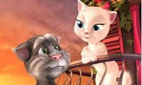 In this Talking Tom Cat 4, the melody of love and romance is ongoing between Tom and his girlfriend the Angel Princess. Wondering how many tricks Tom will play? What romantic things will Tom do for Angel princess? Can you make Tom kiss his girlfriend in a fun and lovely way? Come on, you will all find out in this Talking Tom Cat 4!