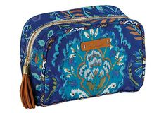 Canvas Cosmetic Case, Indigo on OneKingsLane.com