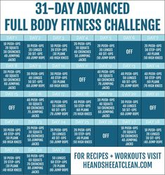31-Day Advanced Full Body Fitness Challenge