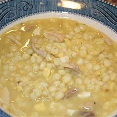 Pennsylvania Dutch Chicken Corn Soup -  Its the most popular soup in our region. I make it without rivels (kind of like tiny dumplings)...I love this soup with or without the rivels