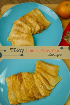 How to Cook Tikoy ( Nian Gao ) - Chinese New Year Recipes. Tikoy or Nian Gao is made of rice flour and usually serve in Chinese New Year.  Ingredients: 1 piece Egg Tikoy Cooking Oil  Tips: 1. I put the Tikoy in the refrigerator for 2 hours 2. Tikoy is cooked when it's tender/ soft  #Tikoy #Howtocooktikoy #chinesenewyear Easy Chicken Recipes, Egg Recipes, Snack Recipes, Snacks, Filipino Seafood Recipe, Seafood Recipes, Tikoy Recipe, Nian Gao, Mushroom Gravy