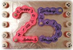 25th birthday cake