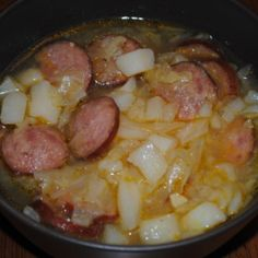 We made this soup last night, had some fresh cabbage from our CSA.  It was very tasty.  My husband loved kielbasa, no matter how it is fixed.  Throw a little hot sauce in, YUMMY.