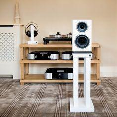 Podium T5 IV Speaker Stands (Pair) | Hi Fi Racks Ltd Speaker Building, Speaker Stands, Plate Crafts, Built In Speakers, Loudspeaker, T5, Solid Oak, Hardwood, Luxury