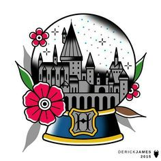Image result for harry potter tattoo flash