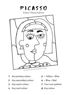 Pablo Picasso, Picasso Kids, Kunst Picasso, Picasso Drawing, Picasso Art, Drawing Activities, Art Activities For Kids, Artists For Kids, Art For Kids