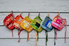 Heather Ross fabric scraps bibs