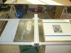 DIY table saw fence (extended length) Diy Table Saw Fence, Table Saw Sled, Table Saw Jigs, Router Table, Woodworking Table Saw, Jet Woodworking Tools, Wood Shop Projects, Home Projects, Table Saw Station