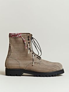 Lanvin SS 12 Braided Suede Boots.  Gorgeous kickers.