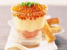 Découvrez la recette Tiramisu au saumon sur cuisineactuelle.fr.