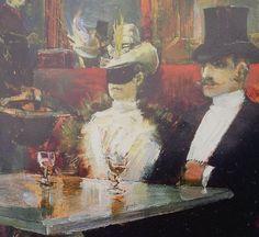 Akseli Gallen Kallela - Detail from A café in Paris