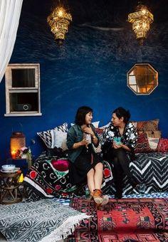 Une soirée mise en scène par Cynthia Vincent || Mixe de motifs ethniques géométriques