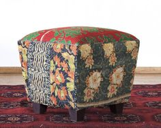 I love the shape and idea of this but would like to choose my own fabric! -rkr EL PASO IMPORT CO. - Brooke Vintage Fabric Ottoman