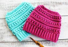 Crochet Katniss Messy Bun Hats 800x550