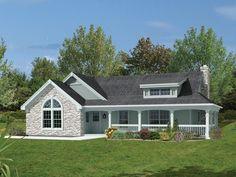 fachada de plano de casa con garaje