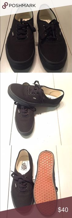 Authentic Vans Practically brand new!! These were given to me as a gift and I just didn't like how they looked on me. However they are in great condition and are good looking shoes. Originally $50 online. Vans Shoes
