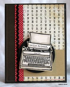 Created by Natalie Dever for the Unity {be inspired} Challenge. Cute background idea for the typewriter stamp!